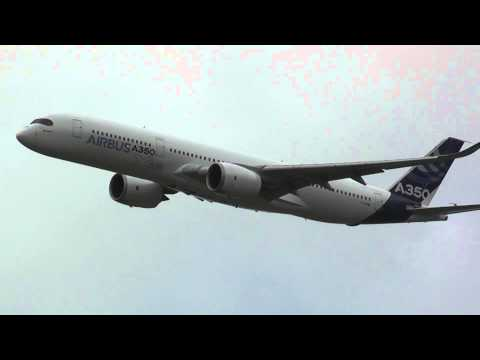 Полёт нового Airbus A350 XWB в Ля-Бурже /  Flight of the new Airbus A350 XWB in La Bourget