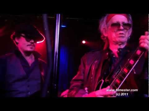 Johnny Depp & Keith Richards playing at Rum Diaries afterparty