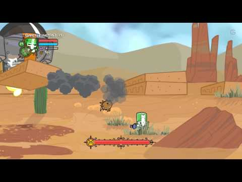 Castle Crashers Chapter 8 Dock, Desert, Alien Ship Walkthrough Gameplay (PC/PS3/X360/XONE) [HD]