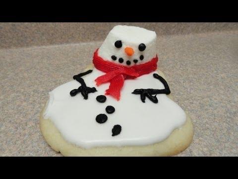 Melted Snowman Cookies - Hóember süti