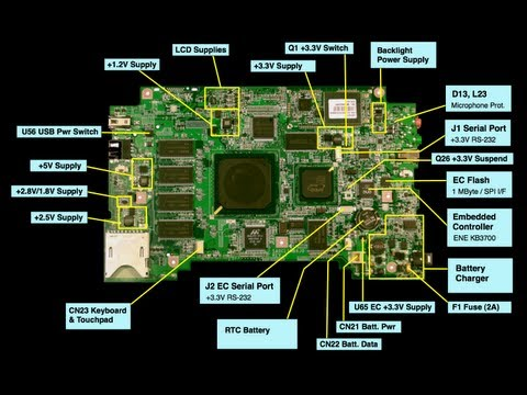 Testing the charging circuit on a laptop motherboard Part 1