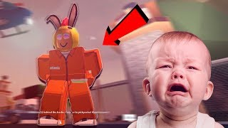 little kid RAGING of getting ARRESTED on JAILBREAK in Roblox *funny compilation*