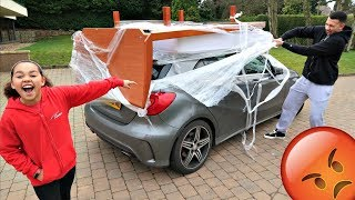 BED ON MY BROTHERS CAR PRANK!