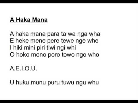 Haka mana youtube