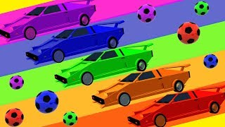 DiliDili TV | Learn Colors for Youtube Kids | Surprise Eggs Rainbow, Street Vehicles, Soccer Balls