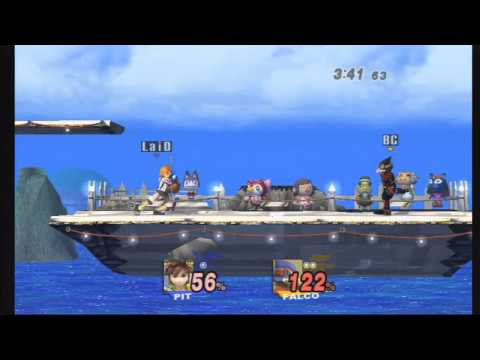 SSBB - Koolaid (Pit/Luigi) Vs Bloodcross (Falco) - Pools - Mega Mass Madness