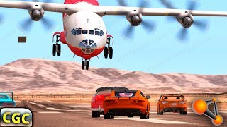 AIrplane Extreme Landing Crashes and Fails (aircraft fails) BeamNG Drive