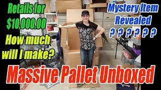 Massive Bulq.com Pallet Unboxed - Mystery Item Revealed - Retails $10,000 -102 Items