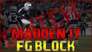 Madden 17: How To Block Field Goals ! Block PAT