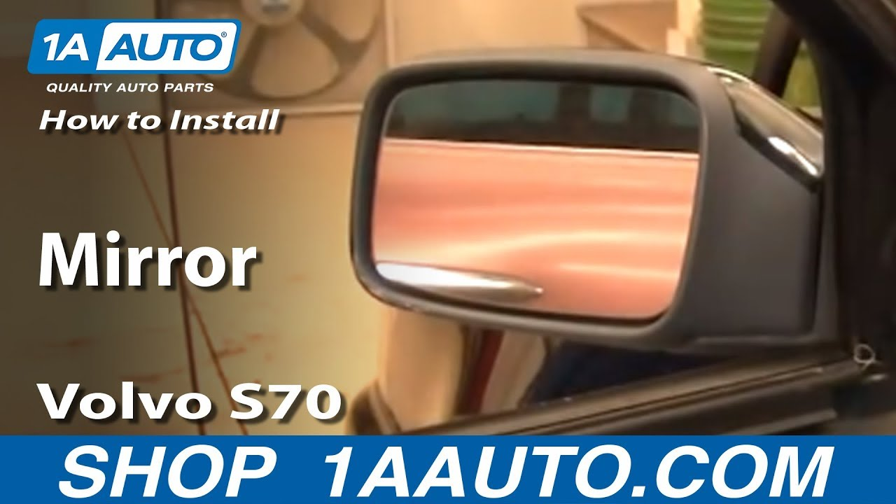 how to install replace broken side rear view mirror volvo