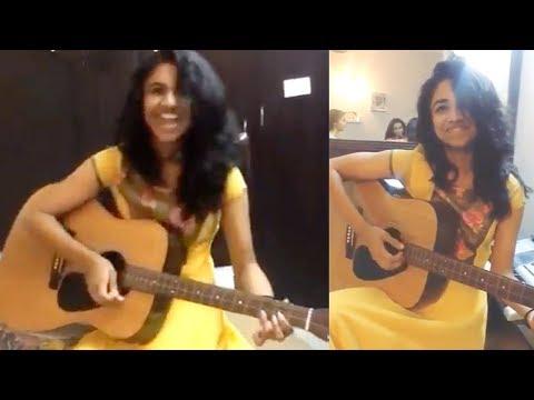 Meenakshi Dileep Playing Guitar - Viral Video thumbnail