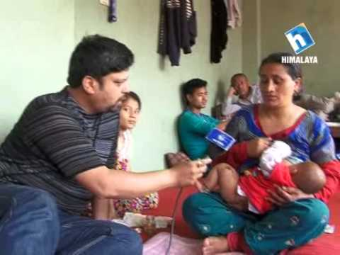 Interview with the mother of 5 months old survivor of Earthquake Nepal 2015