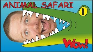 Animal Safari for Children + MORE English Stories for Kids | Steve and Maggie | Wow English TV