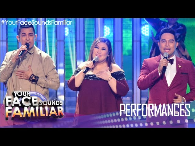 "Your Face Sounds Familiar: Gary Valenciano, Jed Madela & Sharon Cuneta ""Christmas Medley"""