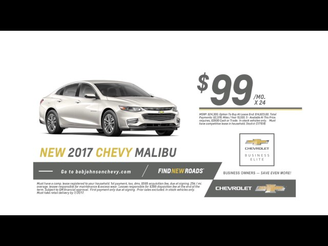 2017 Chevy Malibu Lease for JUST $99/mo. - Deal NEW from ...