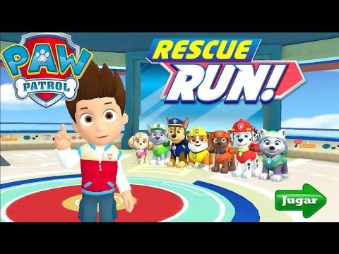 Paw Patrol Rescue Run Minijuegos Gameplay Español