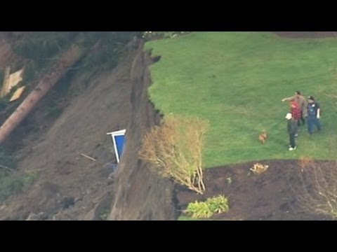 Washington Homes on Edge After Massive Landslide