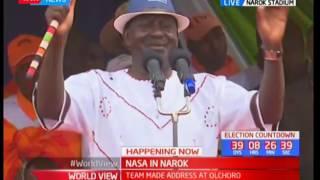 NASA brigade in Narok County led by Raila Odinga