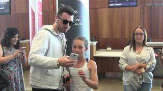 Sam Smith meets fans as he arrives in Adelaide, Australia