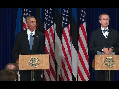 President Obama Holds a Press Conference with President Ilves of Estonia