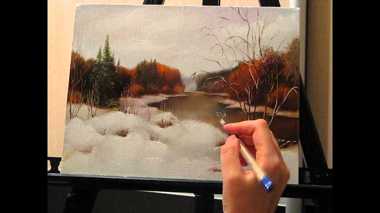 Мастер класс масляной живописи видео