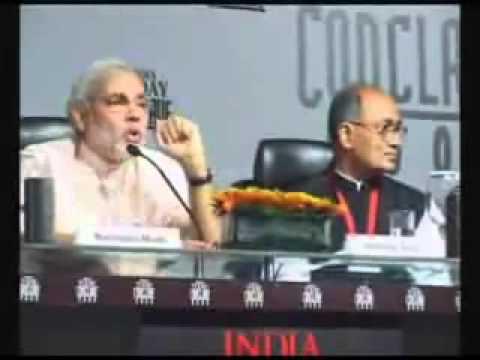 Narendra Modi Exposed Digvijay Singh on his Face