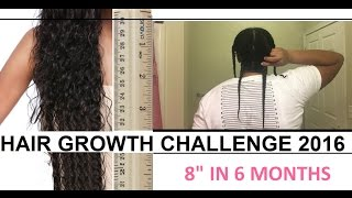 "Hair Challenge KICKOFF [1/17 - 7/17]: 8"" In 6 Months (Just Started)"