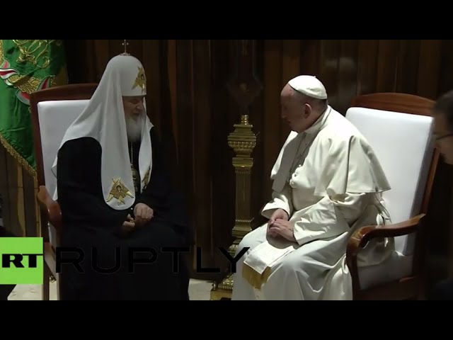 First time in history: Patriarch Kirill meets Pope Francis (LIVE RECORD)