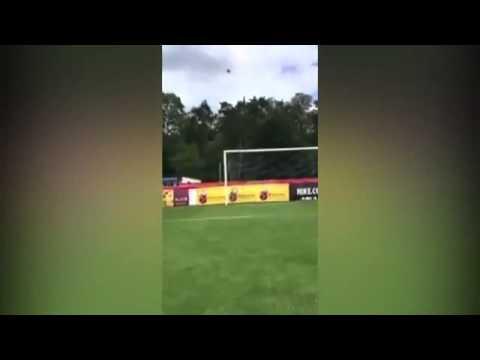 Watch Bayern Munich s Robert Lewandowski complete the crossbar challenge   BLINDFOLDED