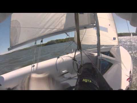 Fall 420 Sailing Gopro Trapeze!