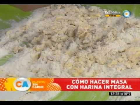 Cómo hacer masa con harina integral - YouTube
