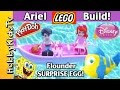 Little Mermaid Ariel LEGO Build + Play-Doh SURPRISE EGG! HobbyKidsTV