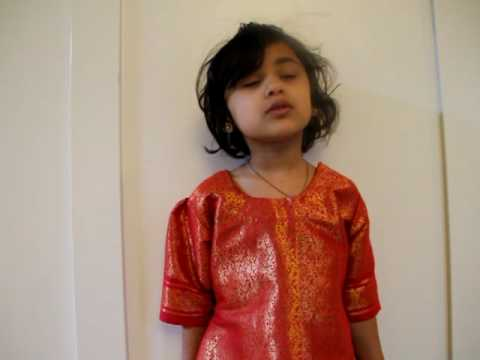 Riyasha Singing Jan Gan Man Indian National Anthem video