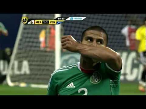 Carlos salcido gol 2nd half vs venezuela 1 25 2012