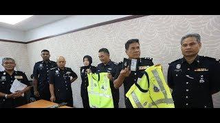 Menyamar polis samun, peras warga asing