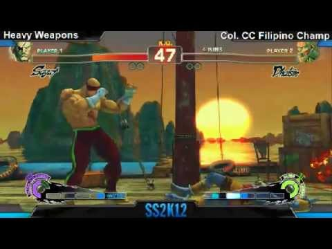 SS2K12 AE2012: Heavy Weapons (Sagat) vs Filipino Champ (Dhalsim) - Day 1 (Pool Matches)