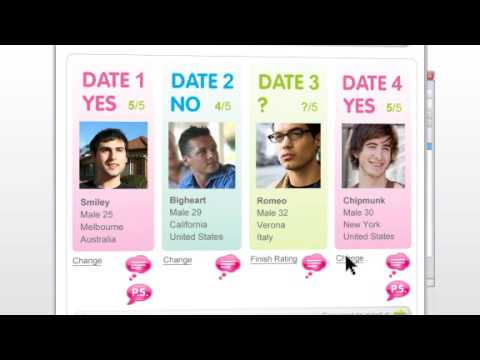 Video Speed dating on Skype using Skyecandy - Full Beta Demo