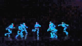 coreografia con trajes luminosos