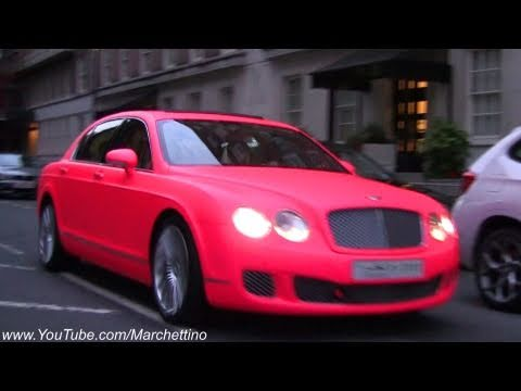 Matte Pink Bentley Flying Spur Speed