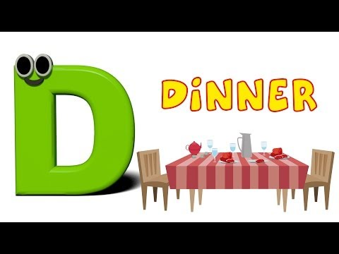 Phonics Letter- D song Kids Tv Nursery Rhymes S01EP146
