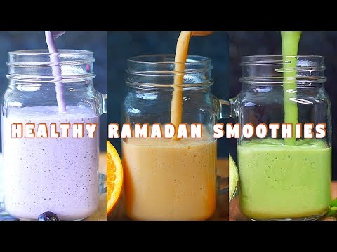 3 Easy Healthy Fruit Smoothie | Ramadan Recipes | Hungry for Goodies