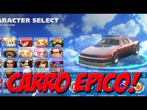 Sonic All Stars Racing Transformed : CARRO ÉPICO