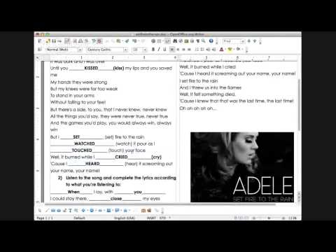 Intermediate English Music Class: Adele & Past Tenses video
