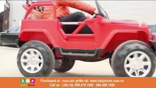 Ô tô điện trẻ em Jeep 7888 (Xe địa hình, có bập bênh, BH 1 năm)