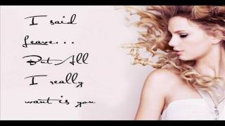 Taylor Swift - The Other Side Of The Door (Lyrics)