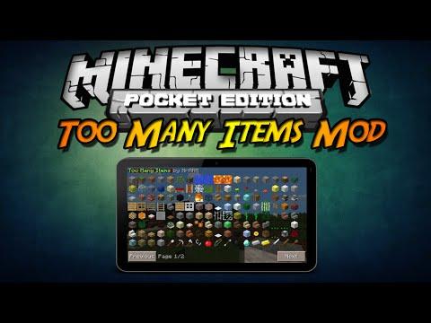 Minecraft PE 0.9.X Complemento Too Many Items Mod V17 Español