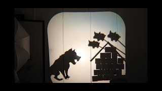 Three Little Pigs - Shadow Puppets Nursery Rap