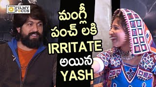 Yash Irritated by Anchor Mangli Making Fun of his Hair and Beard