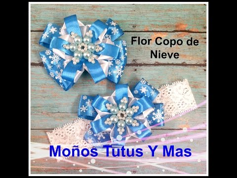 FLOR COPO DE NIEVE Paso a Paso SNOWFLAKE FLOWER Tutorial DIY How To PAP