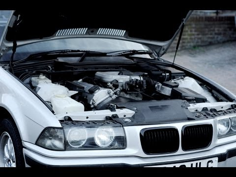 1998 BMW E36 316i 316 i ENGINE START. EXHAUST. IDLE. REVVING. RUNNING
